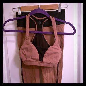 Lululemon special edition bra and cropped leggings